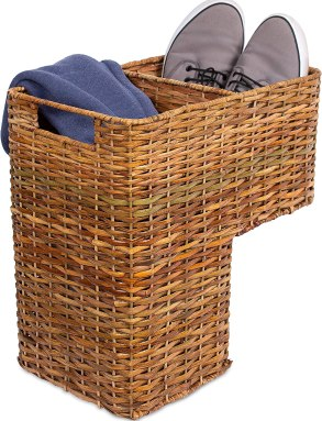 BIRDROCK HOME Stair Basket for Staircases