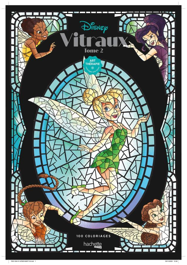 Coloriages Disney Vitraux tome 8: 8 coloriages. Tome 8 : Disney