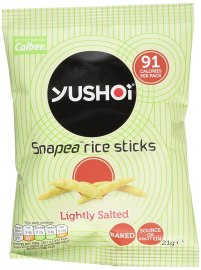 Yushoi Snapea Rice Sticks Savoury Snack Lightly Salted 21 g (Pack of 24)