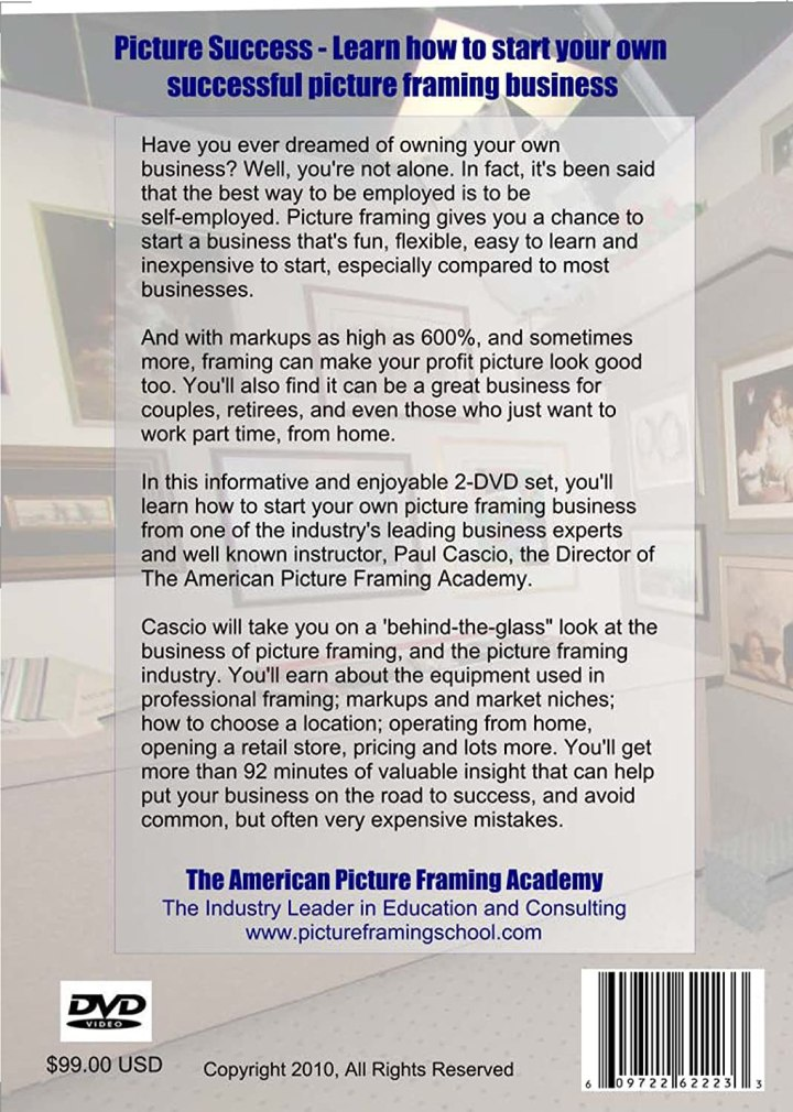 american picture framing academy | secondtofirst.com