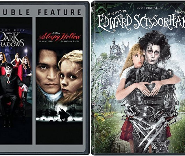Amazon Com Edward Scissorhands Sleepy Hollow Dark Shadows Dvd Johnny Depp Tim Burton Fantasy Action Set Johnny Depp Winona Ryder Dianne Wiest
