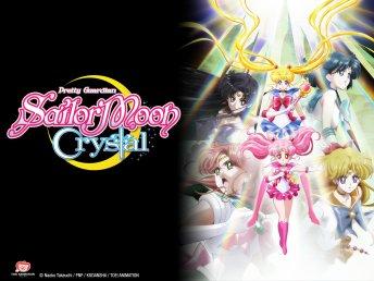 Póster de Sailor Moon Crystal con Sailor Moon, Chibiusa, Marte, Mercurio, Venus y Júpiter