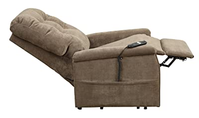Pulaski-Montreal-Coffee-Fabric-Lift-Chair-front-view