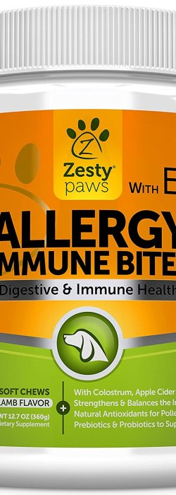 Allergy Immune Soft Chews for Dogs - With EpiCor for Seasonal Allergies & Immune System
