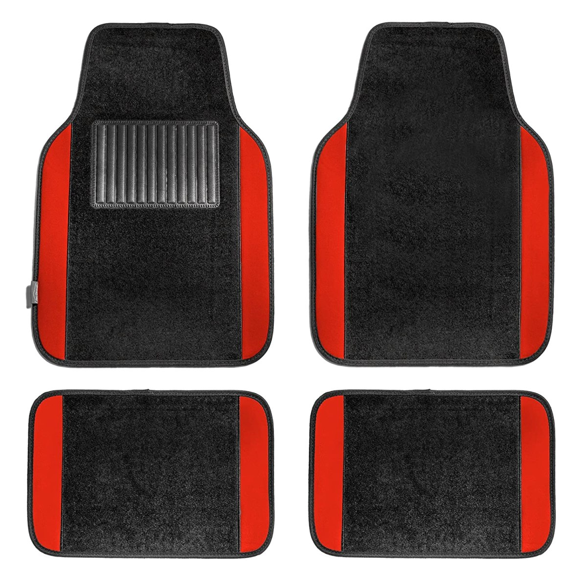 Best Floor Mats Reviews FH Group F14407RED Premium Full Set Carpet Floor Mat
