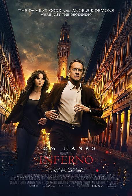 Amazon.com : Inferno Movie Poster Limited Print Photo Tom Hanks ...