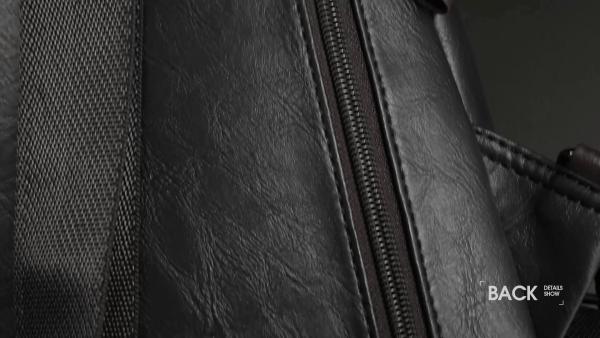 Alena Culian Sling Backpack Men Leather Chest Bag Crossbody Shoulder Bag For Men(black) 20 Fashion Online Shop gifts for her gifts for him womens full figure