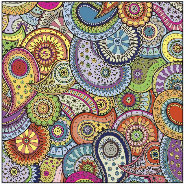 Amazon.com: Patterns Shapes & Designs Adult Coloring Book With