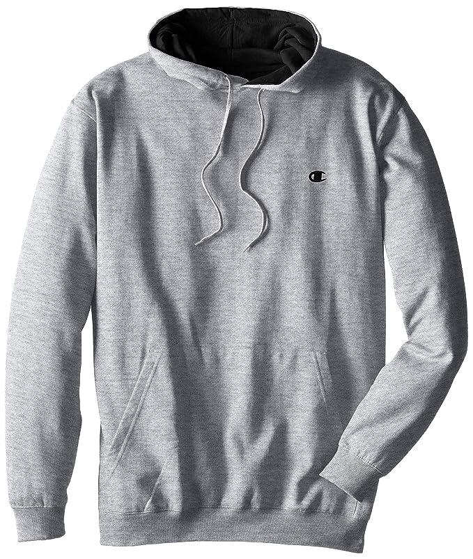 Champion Men's Big-Tall Fleece Pullover Hoodie, Grey Heather, 2X