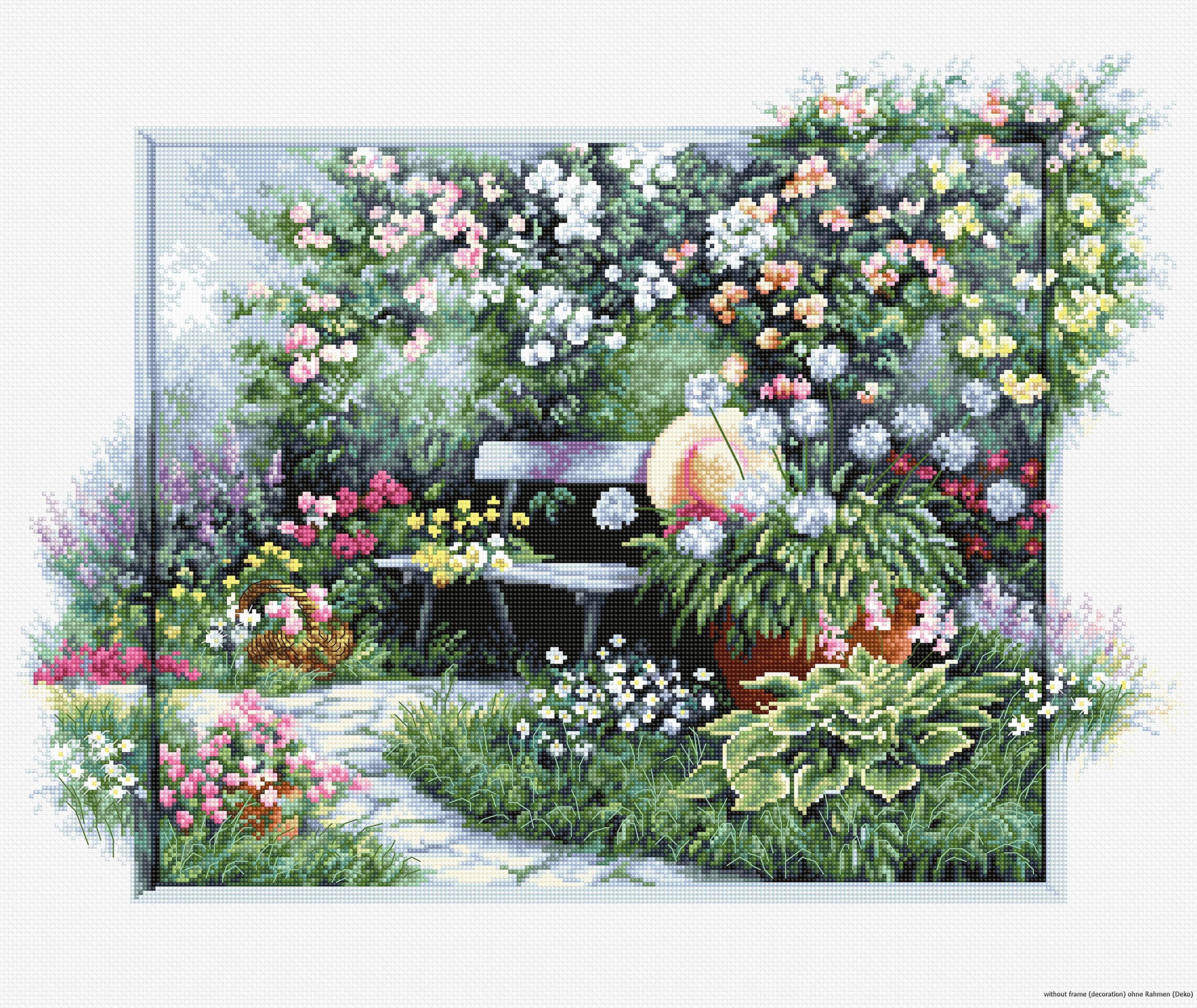 Luca S Bu4012 Flower Garden Bench Cross Buy Online In Hong Kong At Desertcart