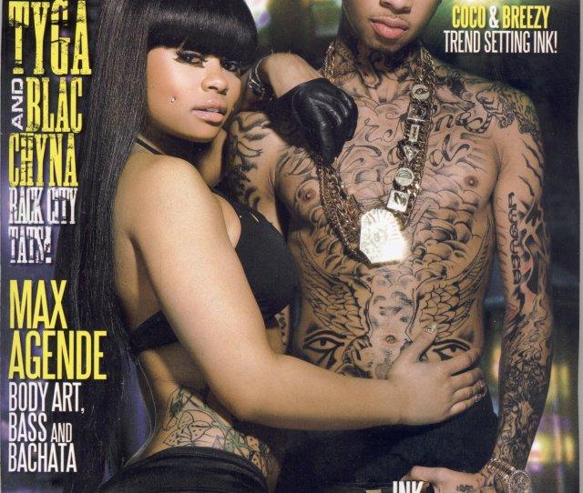 Black Mens Urban Ink Magazine 25 Tyga Blac Chyna Max Agende Al Fliction Single Issue Magazine 2012