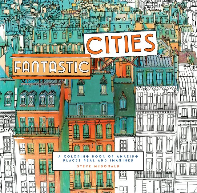 Image result for fantastic cities coloring book