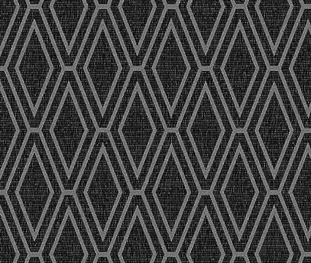 Opulent Shimmer Diamond Geometric Wallpaper Black Silver Holden Decor 65382 Amazon Com