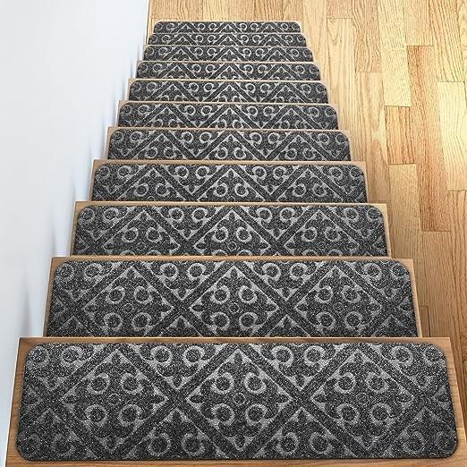 Amazon Com Carpet Stair Treads Set Of 13 Non Slip Skid Rubber   Elogio Carpet Stair Treads   Carpet Runners   Carpet Flooring   Skid Rubber   Pet Dog   Skid Resistant