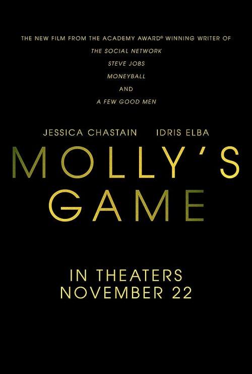 November 2017 Adaptations - Molly's Game Poster