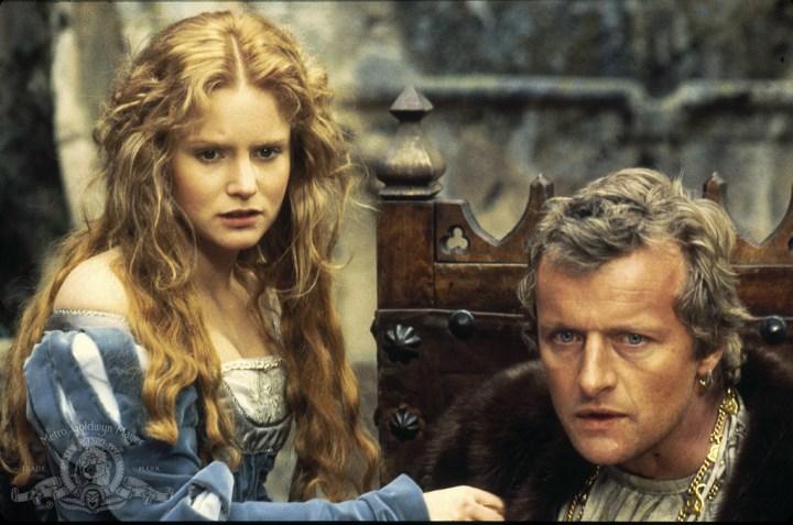 Rutger Hauer and Jennifer Jason Leigh in Flesh+Blood (1985)