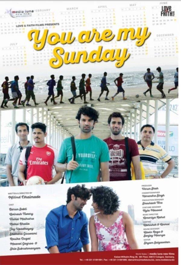 Vishal Malhotra, Shahana Goswami, and Barun Sobti in Tu Hai Mera Sunday (2016)