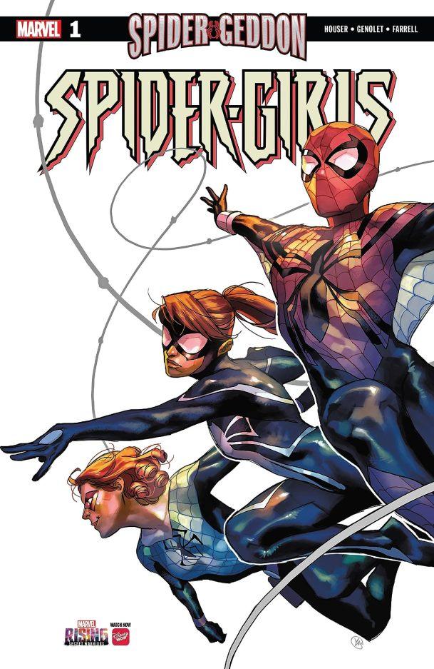 Capa de Spider-Girls #1 por Yasmine Putri.