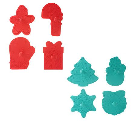 Prepology Set of 8 Holiday Themed Cookie Cutters
