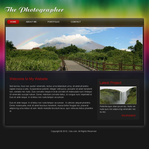 1 3 Page Website Template Web Page Design Contest 99designs