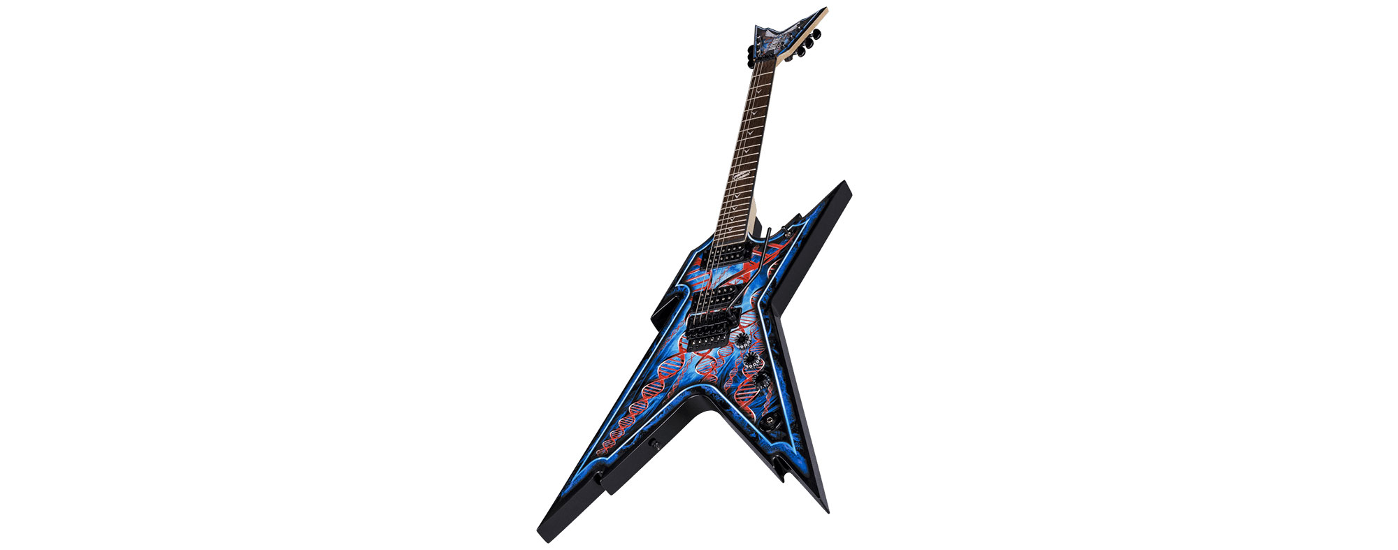 Dean Dimebag Razorback Floyd 6 String Electric Guitar W