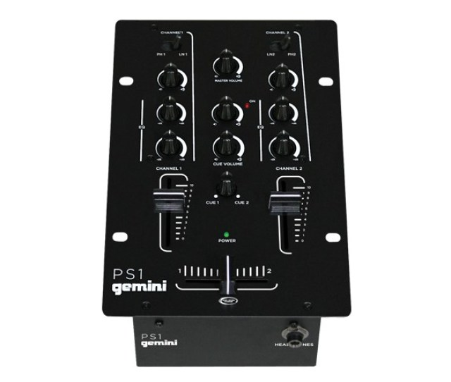 Gemini Ps1 2 Channel Professional Dj Stereo Mixer W Rotary Cue Volume Control