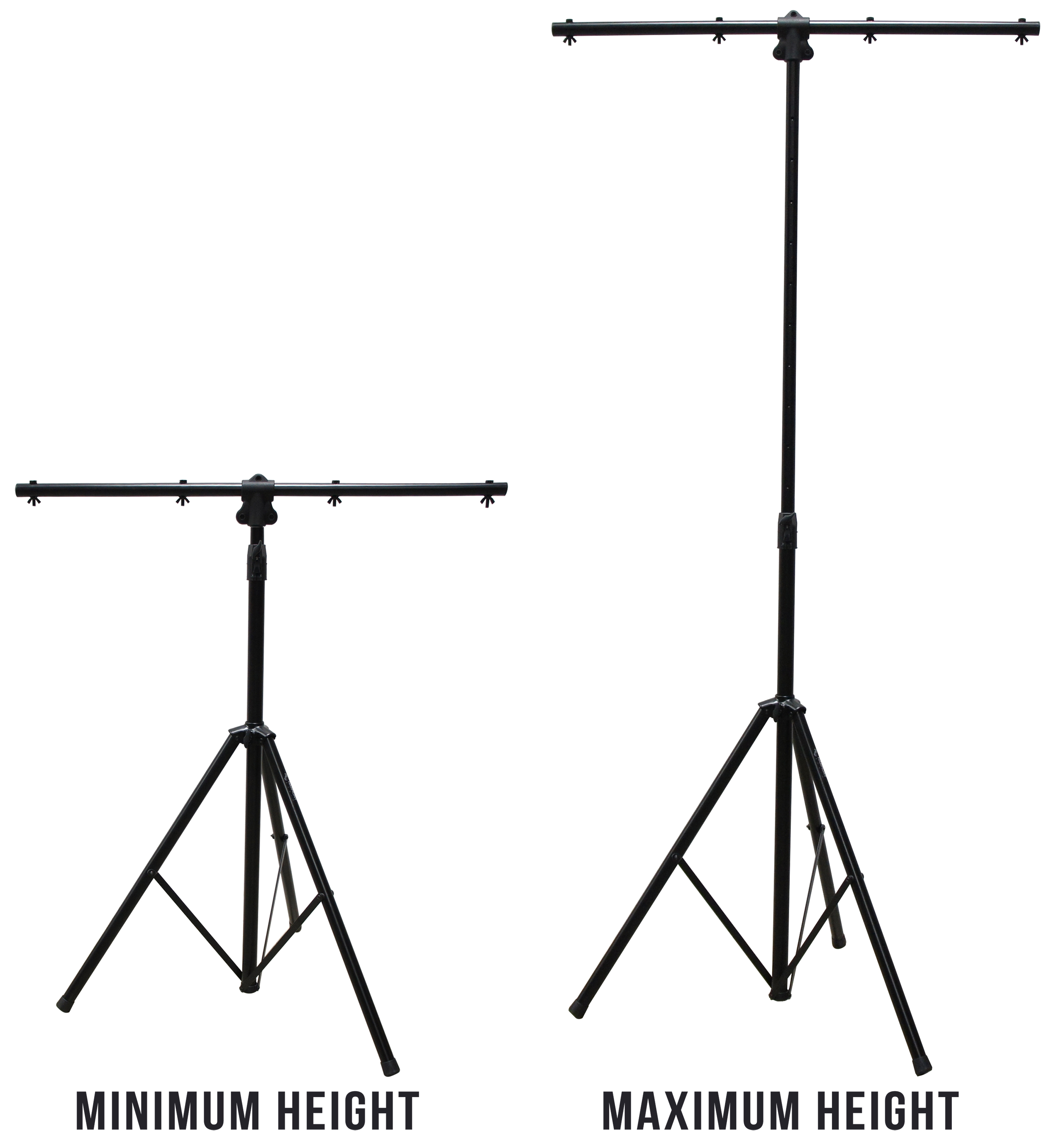 Harmony Audio Ha Tbara Pro Audio Dj Lighting Tripod Amp T Bar Light Stand With Air Brake Drop