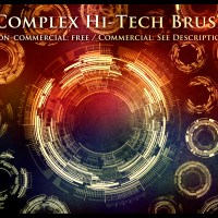 FREE -  52 Complex Hi-Tech Sci-Fi Circle Brushes