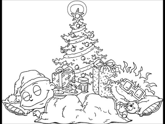 Rugrats Coloring Page Babies Under The Tree By Chipmunkcartoon On Deviantart