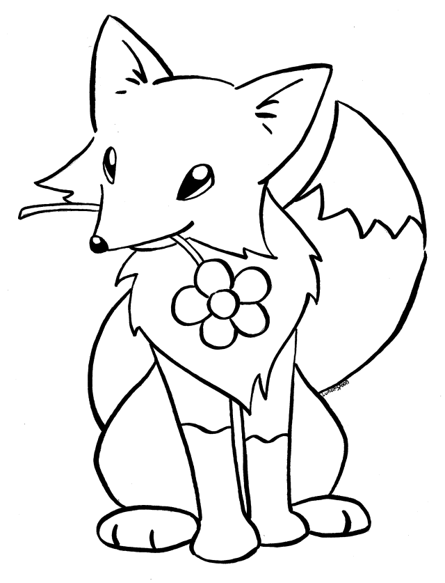 Kitsune coloring book page by LunarSpoon on DeviantArt