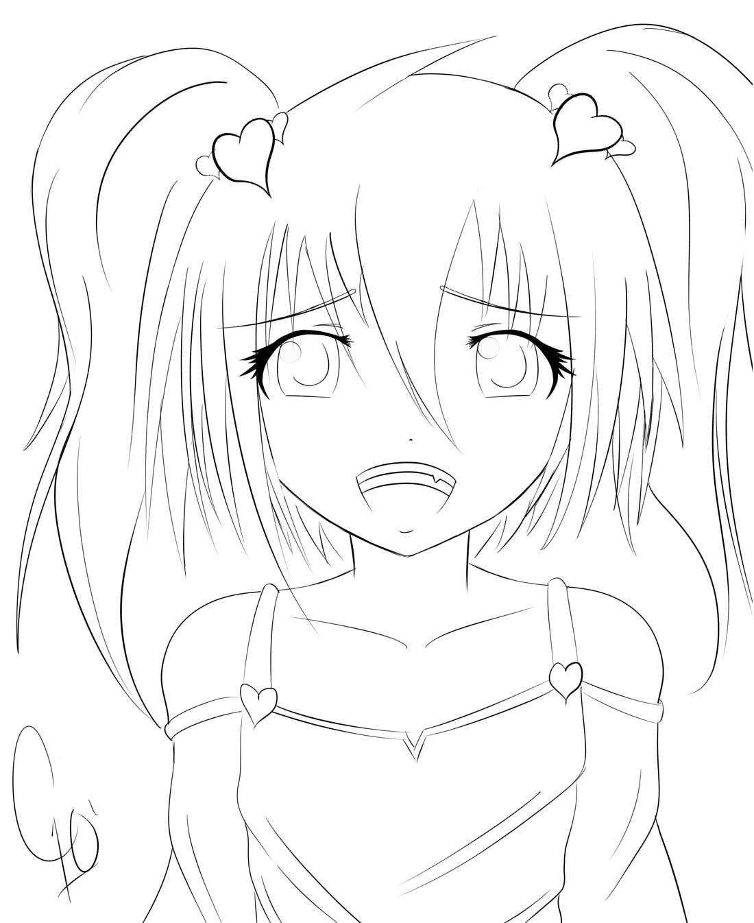 Cute Anime Girl By Chuloc On Deviantart