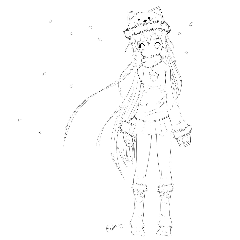 Cute Anime Girl 2 By Chuloc On Deviantart