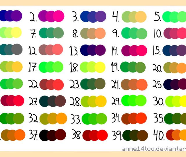 Random  Color Palette Free To Use By Annetco