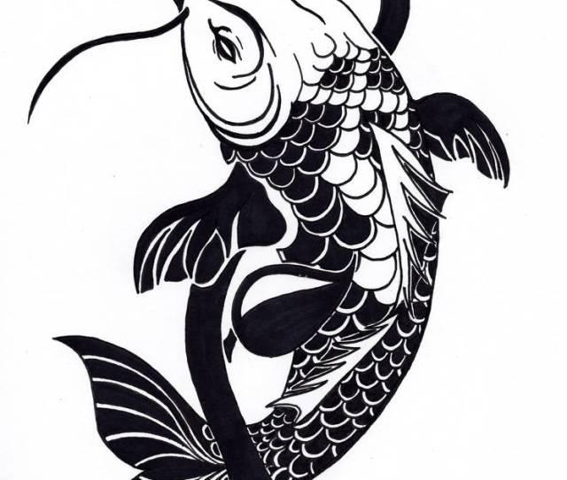 Tribal Koi Fish Tattoo Design By Nikolai Bartolf