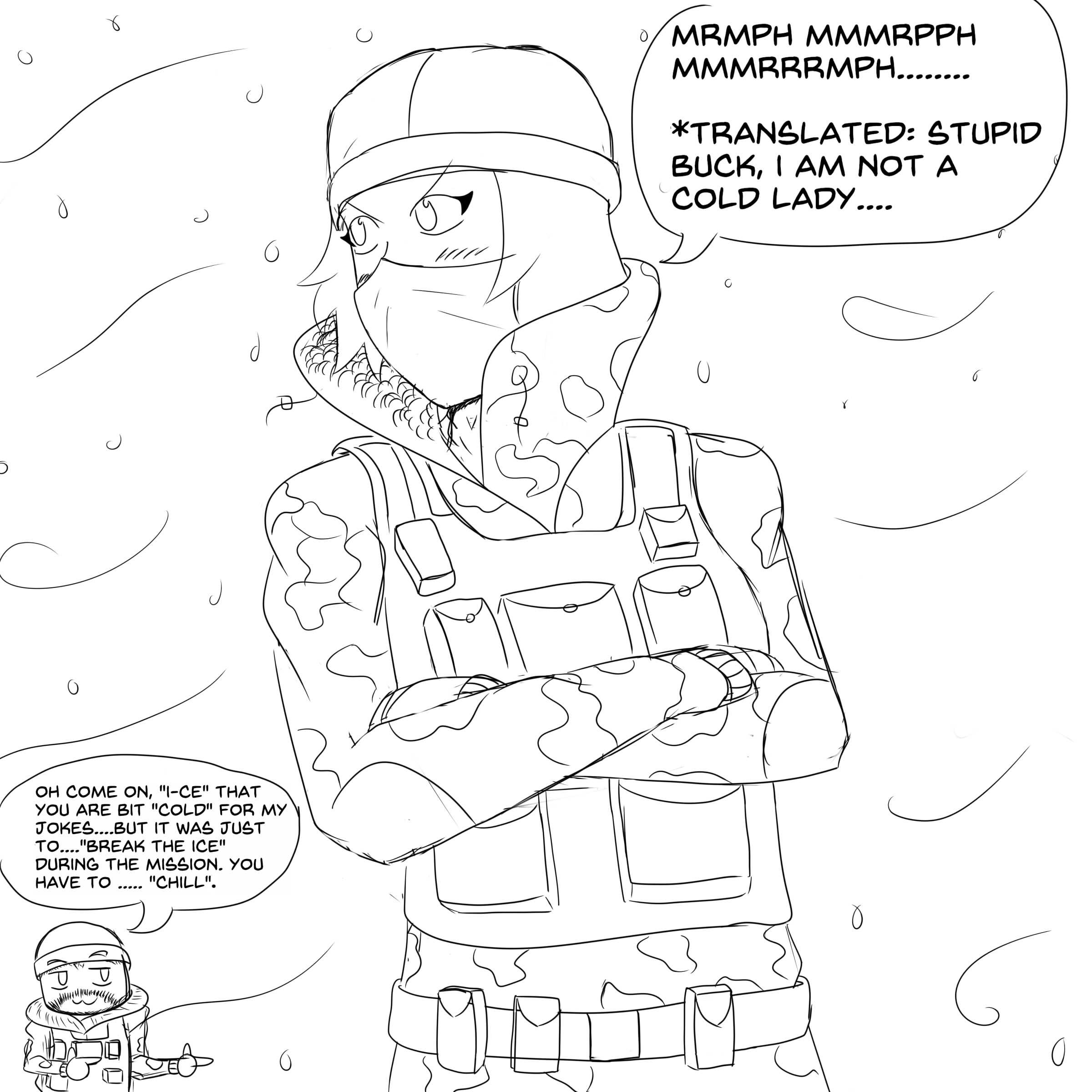 R6 Siege Frost By Evinaizer On Deviantart