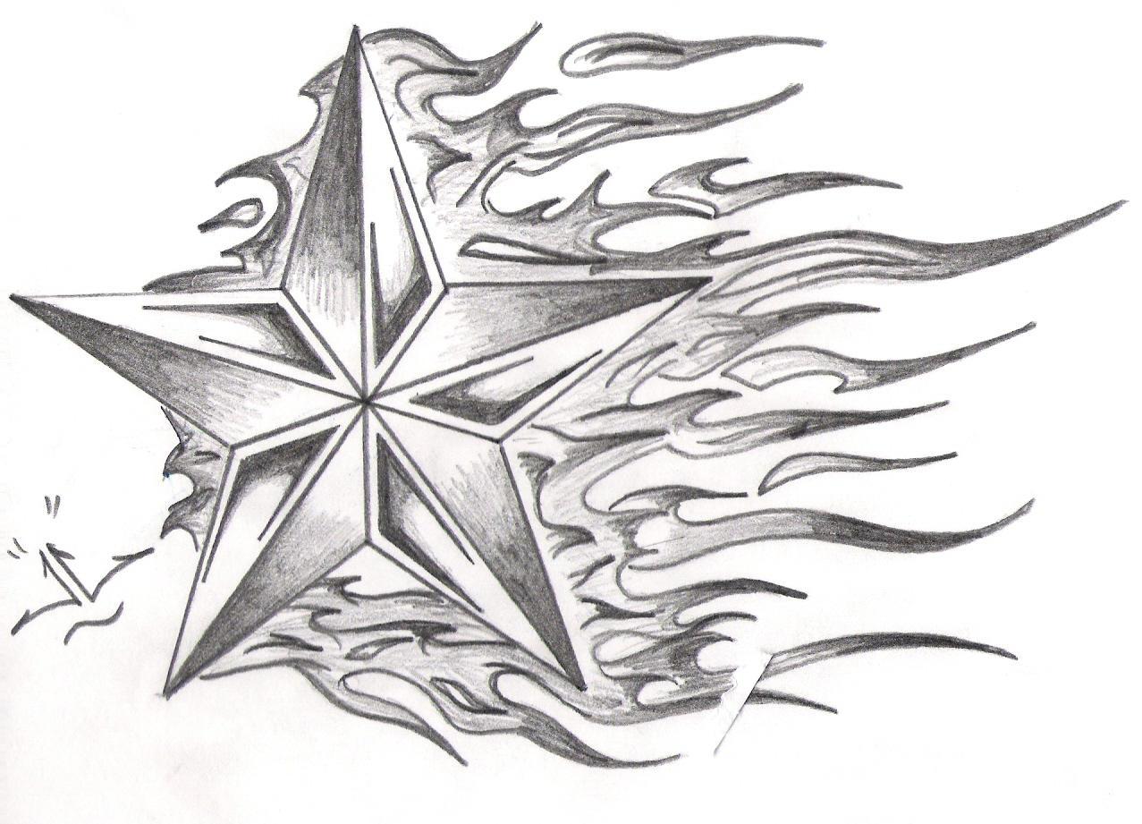 Star On Fire By Geezus Van James On Deviantart