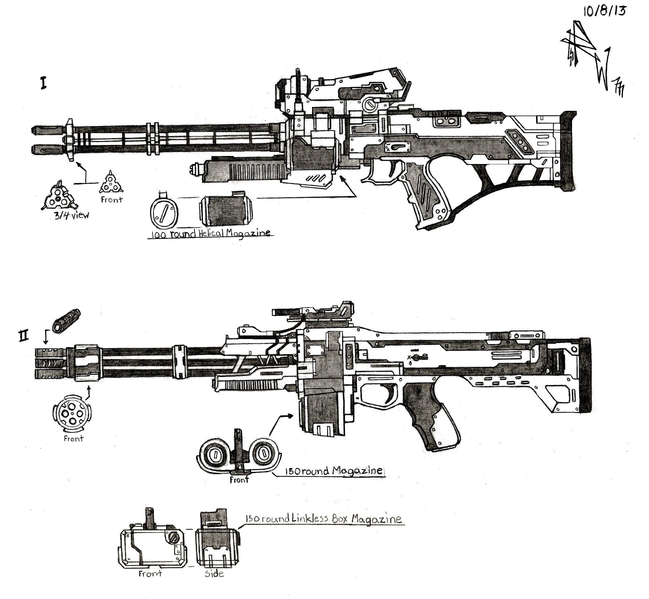 Weapon Concept Heavy Rifles By Redw0lf777sg On Deviantart