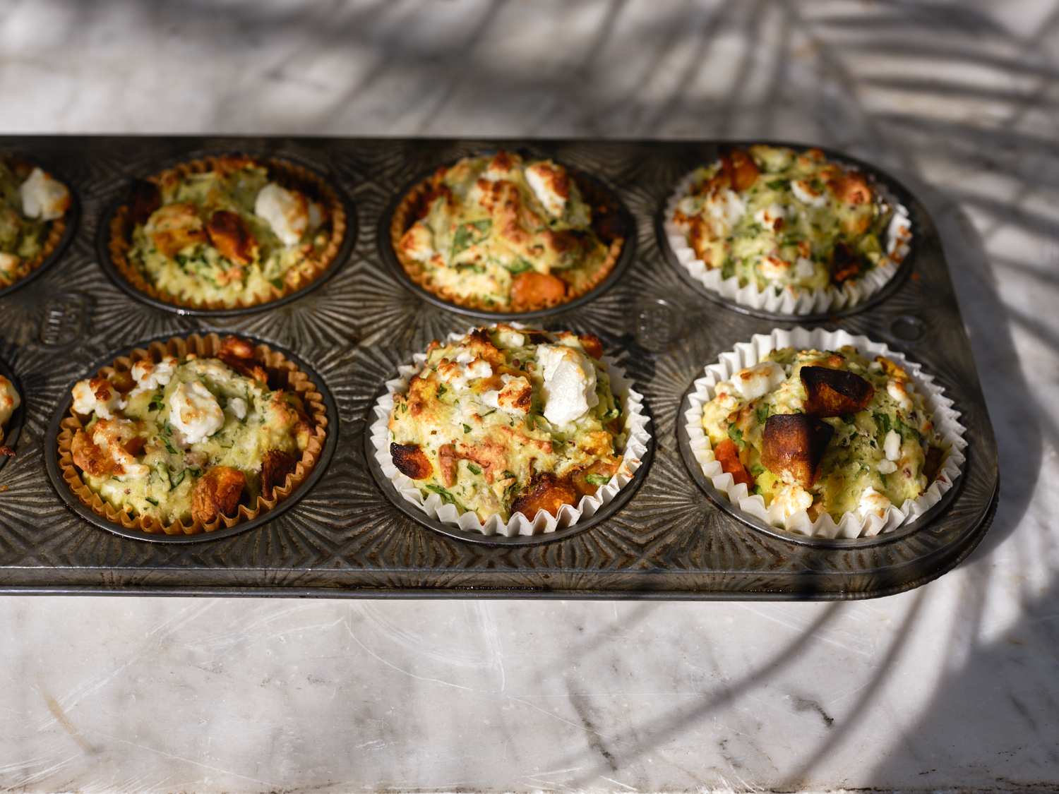 Seeded Pumpkin and Feta Muffins