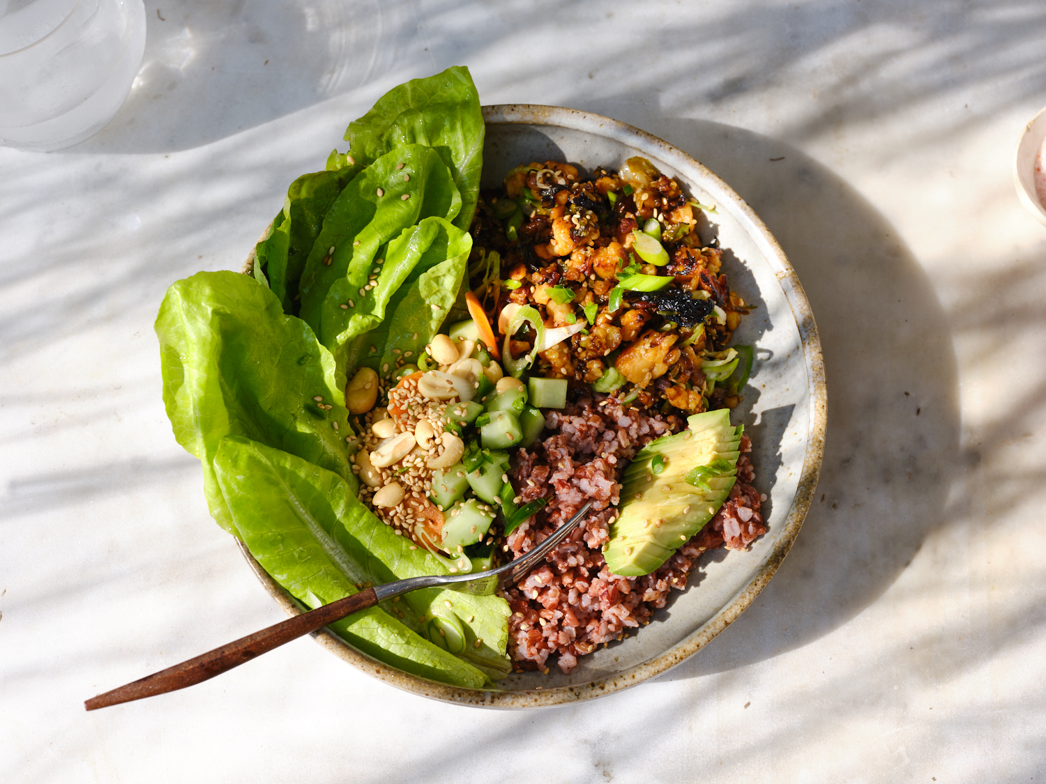 Spicy Tempeh Crumble Bowl