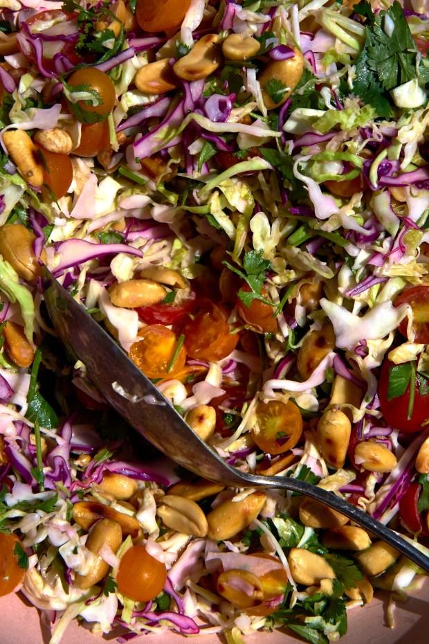Lime & Blistered Peanut Coleslaw Recipe