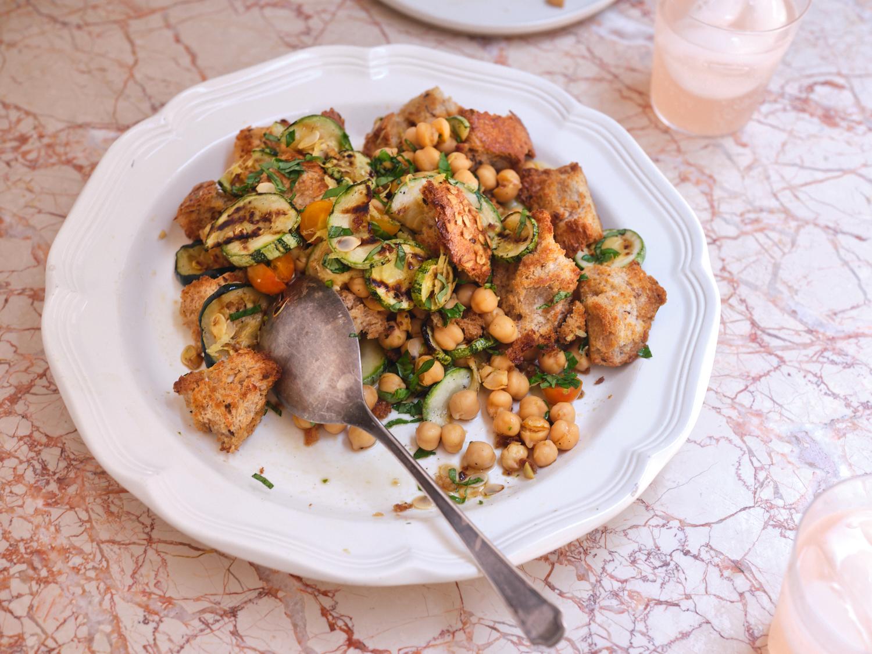 Grilled Zucchini & Bread Salad | 101 Cookbooks