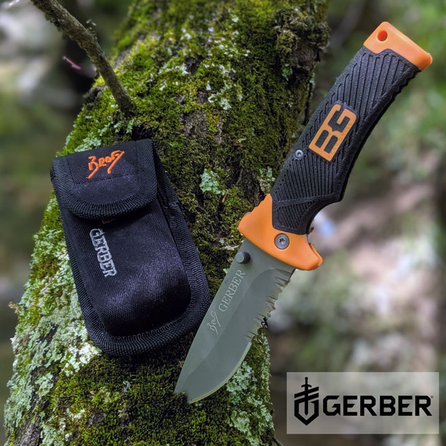 CRAZY GOOD DEAL - Gerber Bear Grylls Folding Sheath Knife, Serrated Edge - SHIPS FREE! BONUS: GRAB YOUR PHONE AND TXT THE WORD SECRET TO 88108 FOR ACCESS TO OUR SECRET DEALS! - 13 Deals