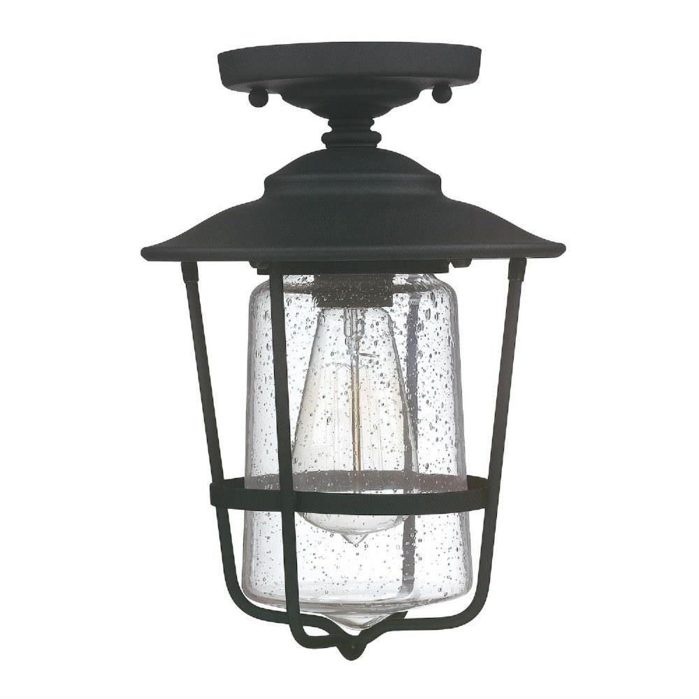 creekside 12 inch 1 light outdoor semi flush mount in urban industrial style 8 high by 12 wide