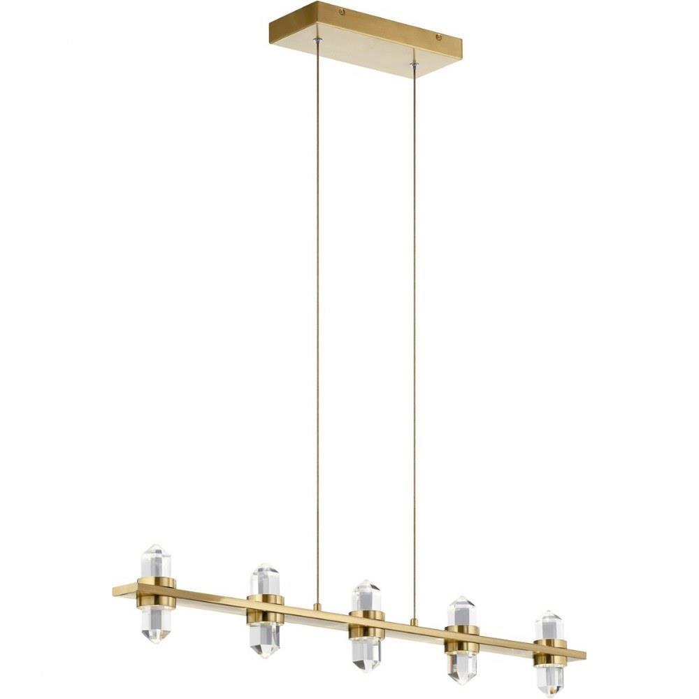 arabella 36 5 inch 33w 10 led linear chandelier