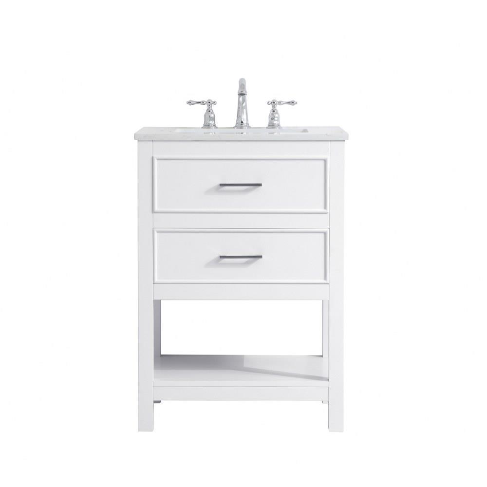 sinclaire 24 inch 1 drawer single single bathroom vanity sink set