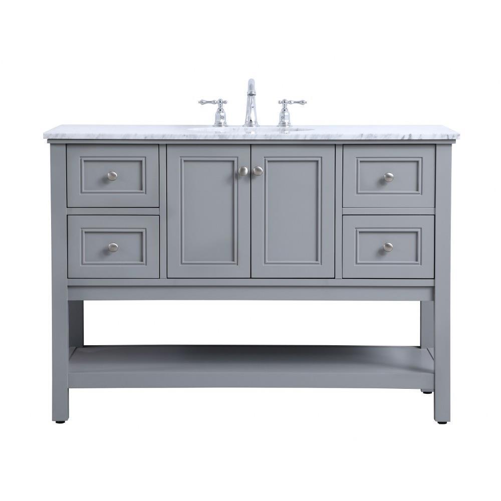 metropolis 48 inch 4 drawer single bathroom vanity sink set