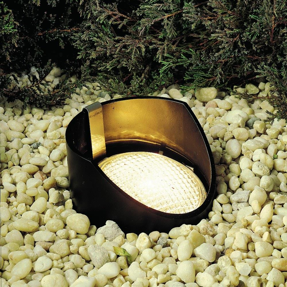 low voltage 1 light in ground lamp with inspirations 8 inches tall by 5 5 inches wide