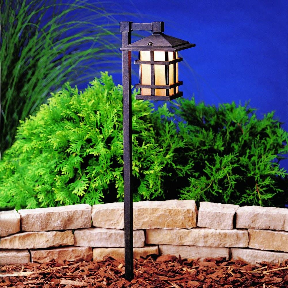 cross creek low voltage 1 light path lamp with arts and crafts mission inspirations 27 inches tall by 6 inches wide