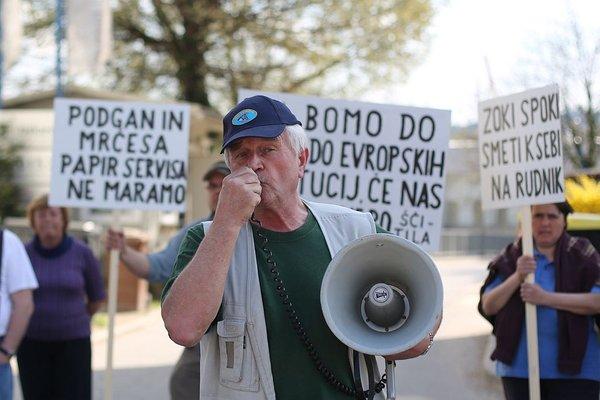 Protest v Vevčah