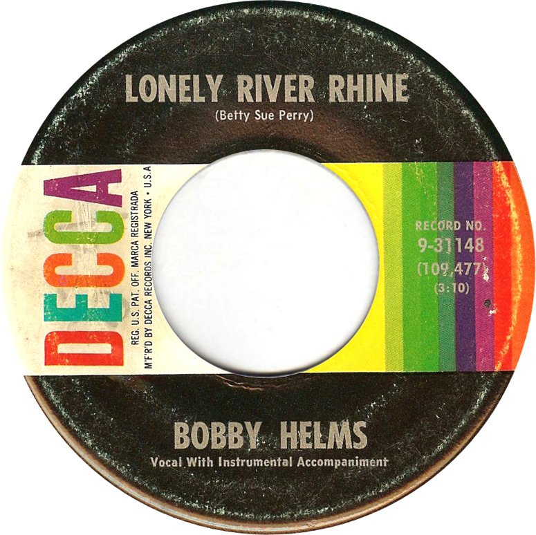 Image result for bobby helms lonely river rhine